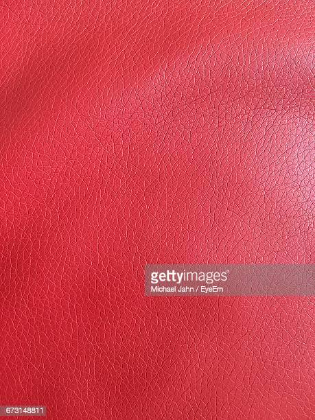 Full Frame Shot Of Red Leather Furniture