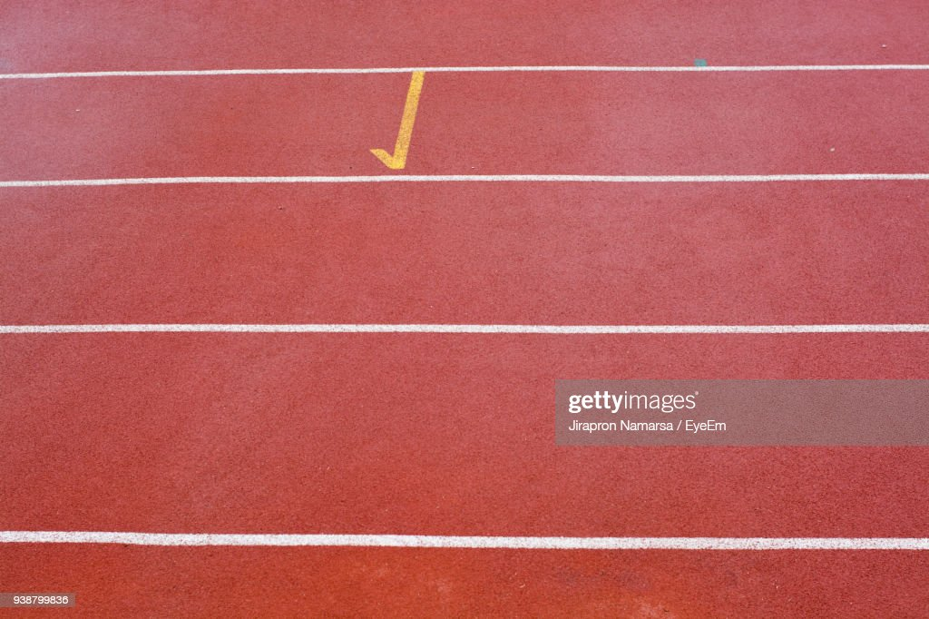 Full Frame Shot Of Red Running Track Stock Photo Getty Images