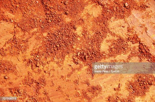 Full Frame Shot Of Red Soil