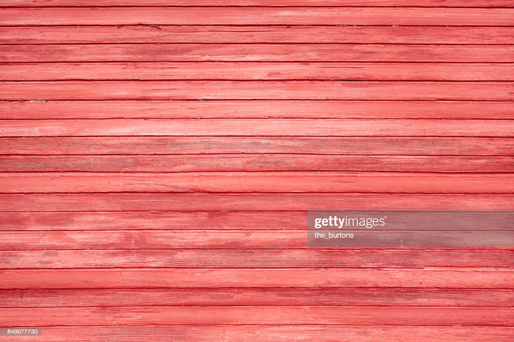 Full frame shot of red wooden wall : Stock Photo