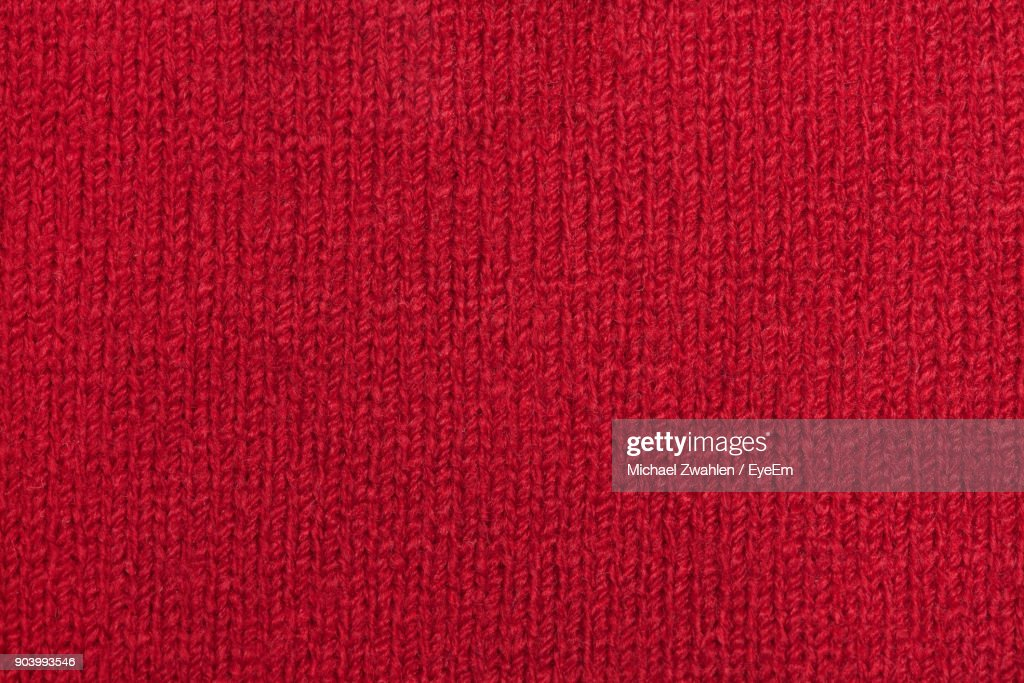 Full Frame Shot Of Red Wool : Foto de stock