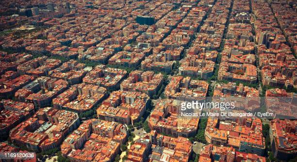 full frame shot of residential building - barcelona stock pictures, royalty-free photos & images