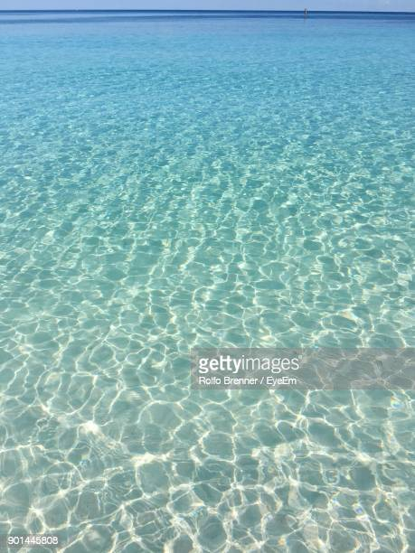 full frame shot of rippled water - quintana roo stock photos and pictures