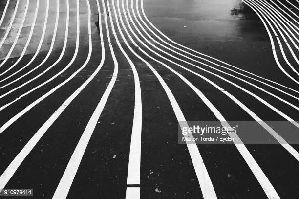 full frame shot of road - parallel stock photos and pictures