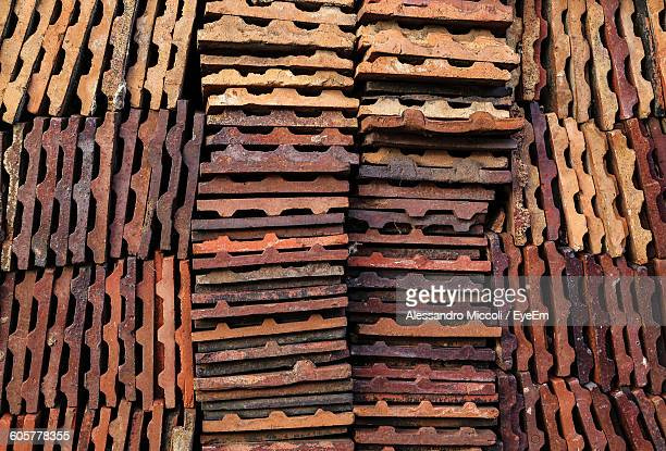 full frame shot of roof tiles - alessandro miccoli stock pictures, royalty-free photos & images