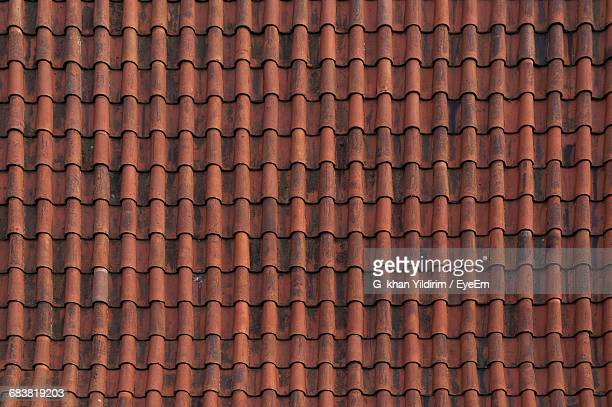 full frame shot of roof tiles - roof tile stock pictures, royalty-free photos & images