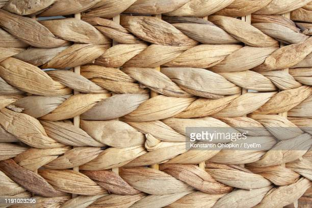 full frame shot of ropes - wicker stock pictures, royalty-free photos & images