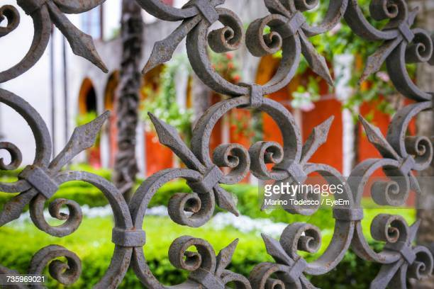 Full Frame Shot Of Rusty Metal Gate