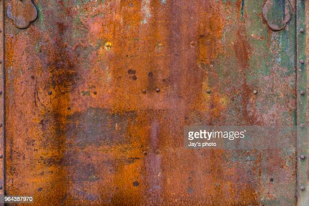 full frame shot of rusty metal - rusty stock pictures, royalty-free photos & images
