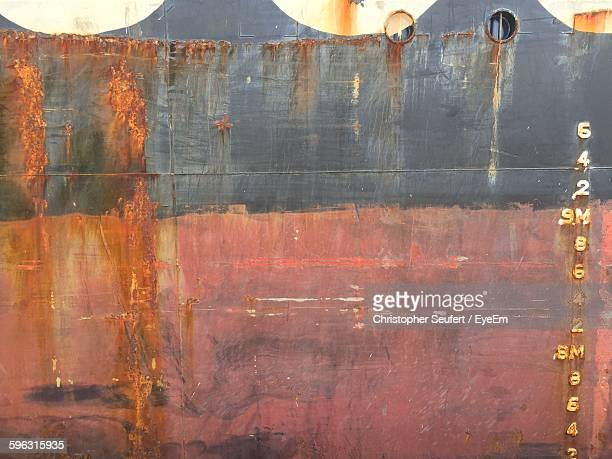 Full Frame Shot Of Rusty Ship