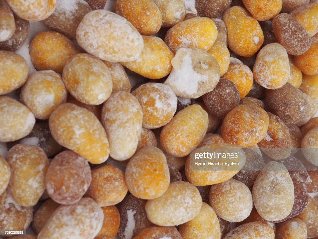 Full Frame Shot Of Salted Peanuts For Sale At Market Stock Photo