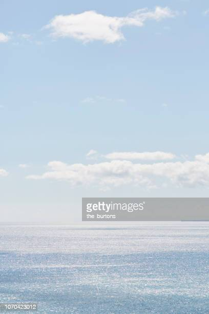 Full frame shot of sea and blue sky