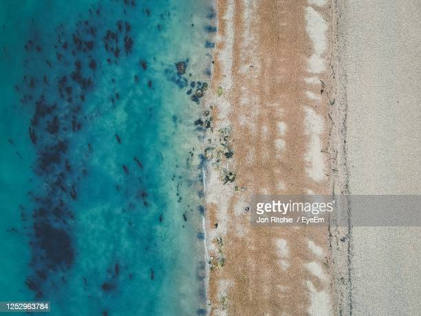 full frame shot of sea shore - isle of wight stock pictures, royalty-free photos & images