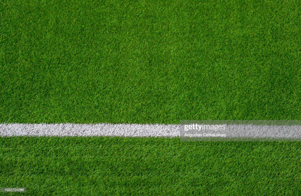 Full Frame Shot Of Soccer Field : Stock Photo