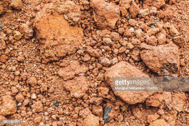 Full Frame Shot Of Soil On Ground