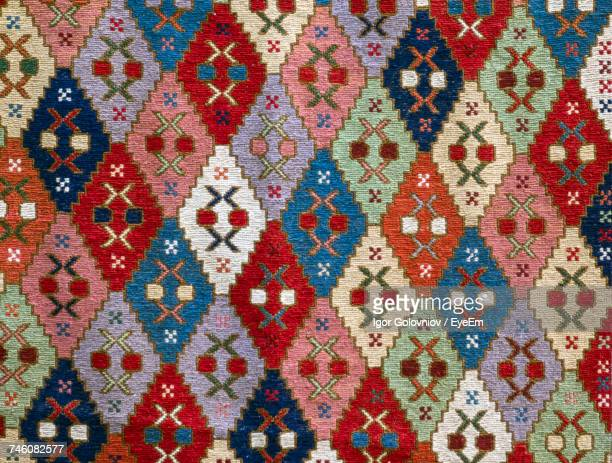 Full Frame Shot Of Soumak Rug