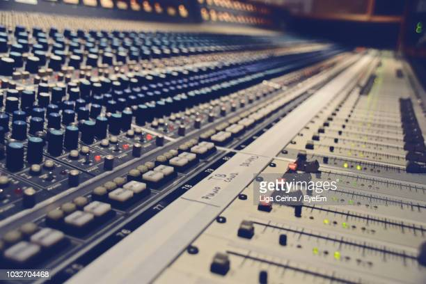 full frame shot of sound mixer - recording studio stock pictures, royalty-free photos & images