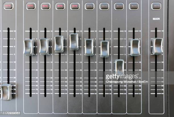 full frame shot of sound mixer - equaliser stock pictures, royalty-free photos & images