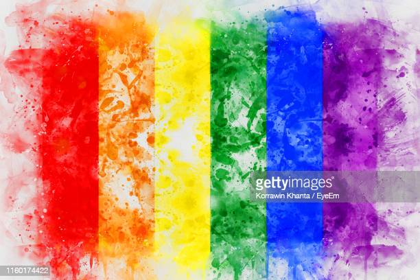 full frame shot of splattered multi colored wall - pride flag stock pictures, royalty-free photos & images