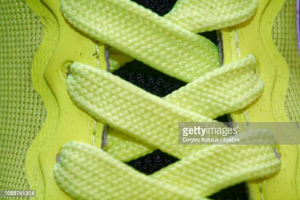 full frame shot of sports shoe - lace stock pictures, royalty-free photos & images