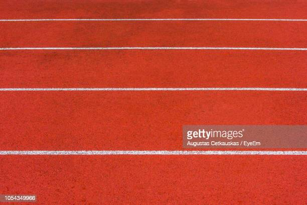 full frame shot of sports track - track and field stadium stock pictures, royalty-free photos & images