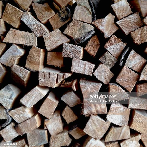 full frame shot of stacked logs - michael stock photos and pictures