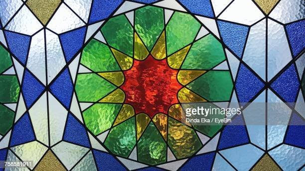 full frame shot of stained glass - stained glass stock pictures, royalty-free photos & images