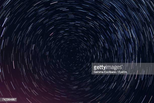 full frame shot of star trail - costellazione foto e immagini stock