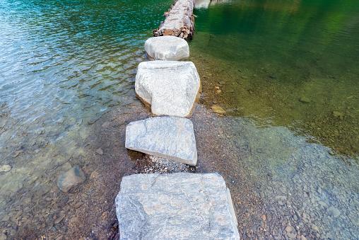 Full Frame Shot Of Stepping stones - gettyimageskorea
