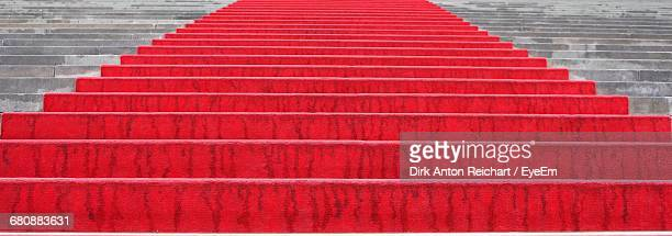 Full Frame Shot Of Steps With Red Carpet