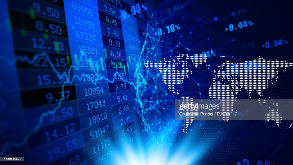Full Frame Shot Of Stock Market Data : Stock Photo