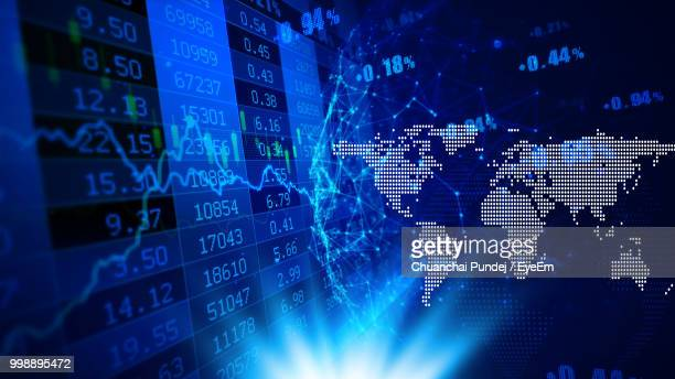 full frame shot of stock market data - stock exchange stock-fotos und bilder