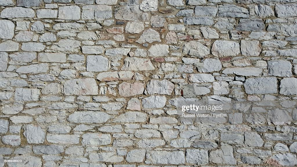 Full Frame Shot Of Stone Wall : Stock Photo