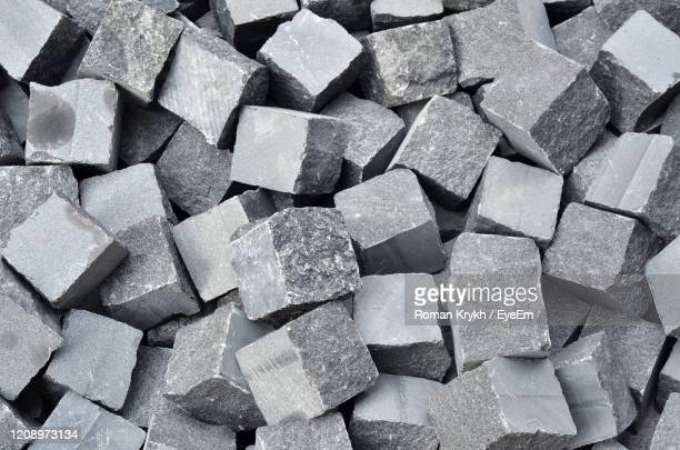 full frame shot of stones - paving stone stock pictures, royalty-free photos & images