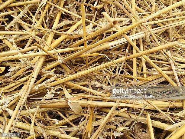 Full Frame Shot Of Straw