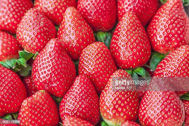 Full frame shot of strawberries.