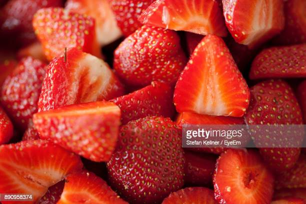 full frame shot of strawberries - strawberry stock pictures, royalty-free photos & images