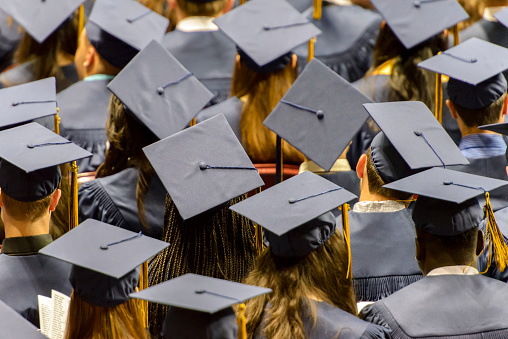 Full Frame Shot Of Students During Convocation Ceremony - gettyimageskorea