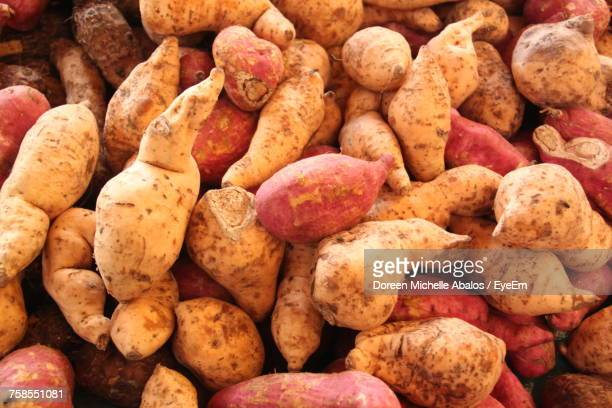 full frame shot of sweet potatoes - sweet potato stock pictures, royalty-free photos & images