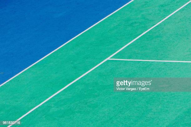 full frame shot of tennis court - sports court stock pictures, royalty-free photos & images