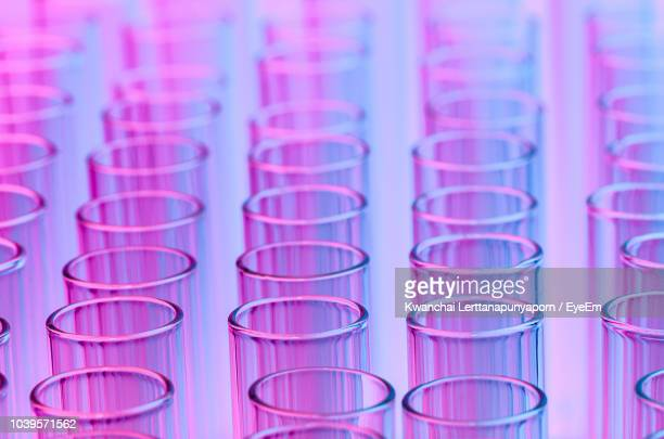 full frame shot of test tubes - laboratory glassware stock pictures, royalty-free photos & images