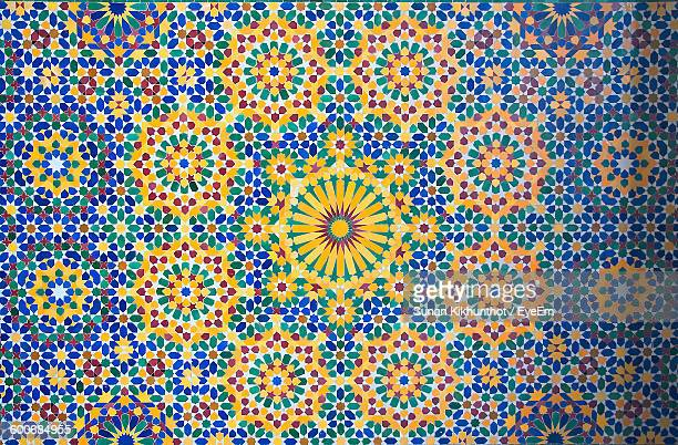 full frame shot of tile with floral pattern - mosaic stock pictures, royalty-free photos & images