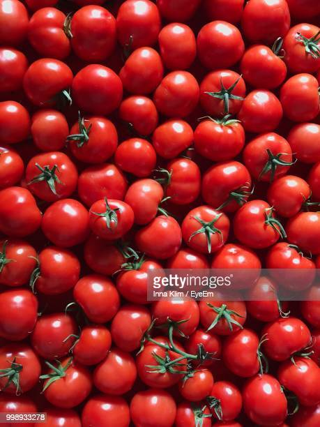 Full Frame Shot Of Tomatoes For Sale At Market