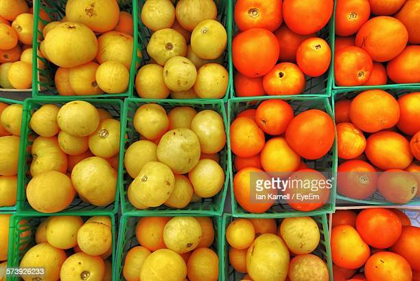 Full Frame Shot Of Tomatoes In Container