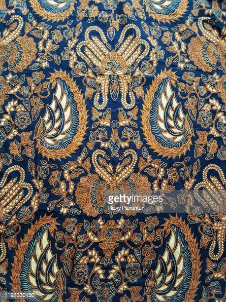 full frame shot of traditional patterned batik - indonesia stock pictures, royalty-free photos & images
