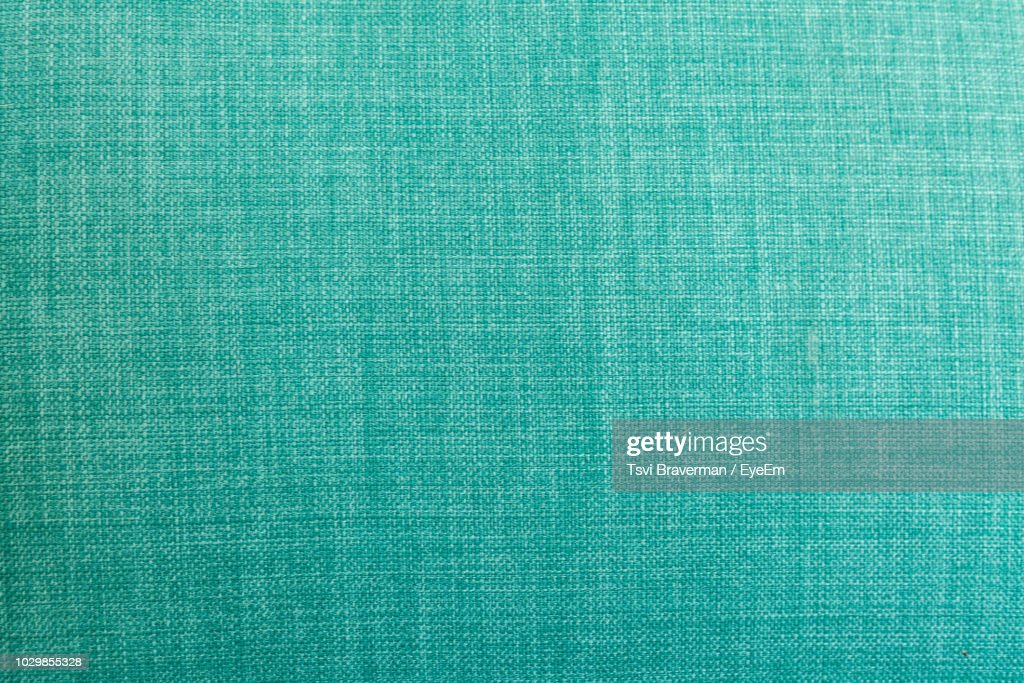 Full Frame Shot Of Turquoise Colored Fabric : ストックフォト