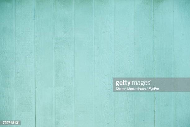 Full Frame Shot Of Turquoise Wooden Fence