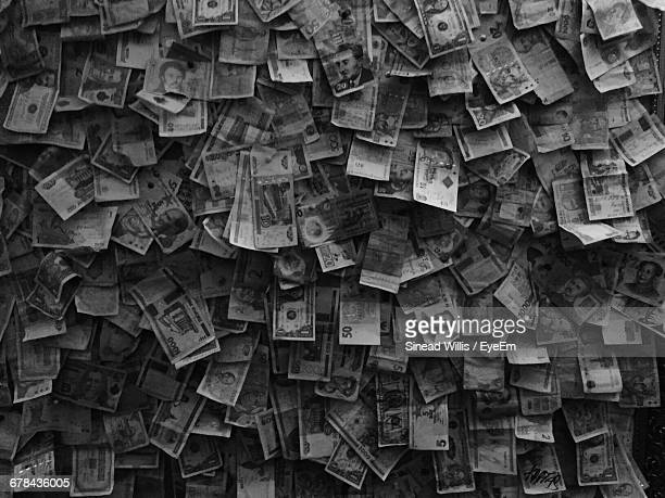 Full Frame Shot Of Various Banknotes