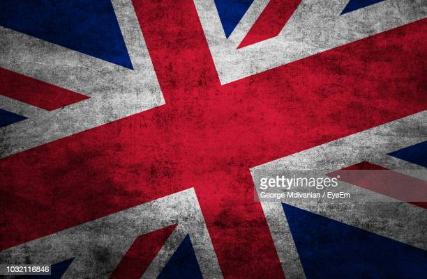 full frame shot of wall with british flag - british flag stock pictures, royalty-free photos & images