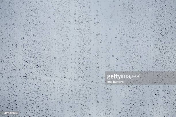 Full frame shot of water drops on a window